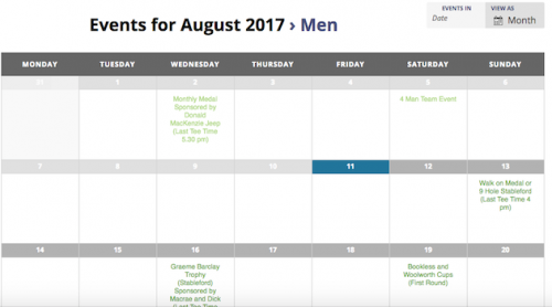 IGC Fixture Calendar