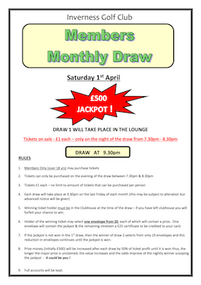 IGC Members' monthly draw