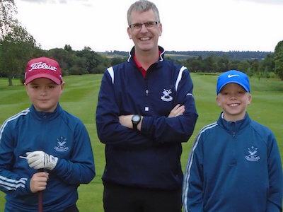 Don Campbell (Sponsor) with Calum Daun and Euan Cuthbert