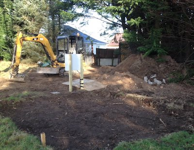Inverness golf club New toilet work 12th